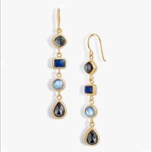 Anna Beck Linear Sapphire and Hematite earrings
